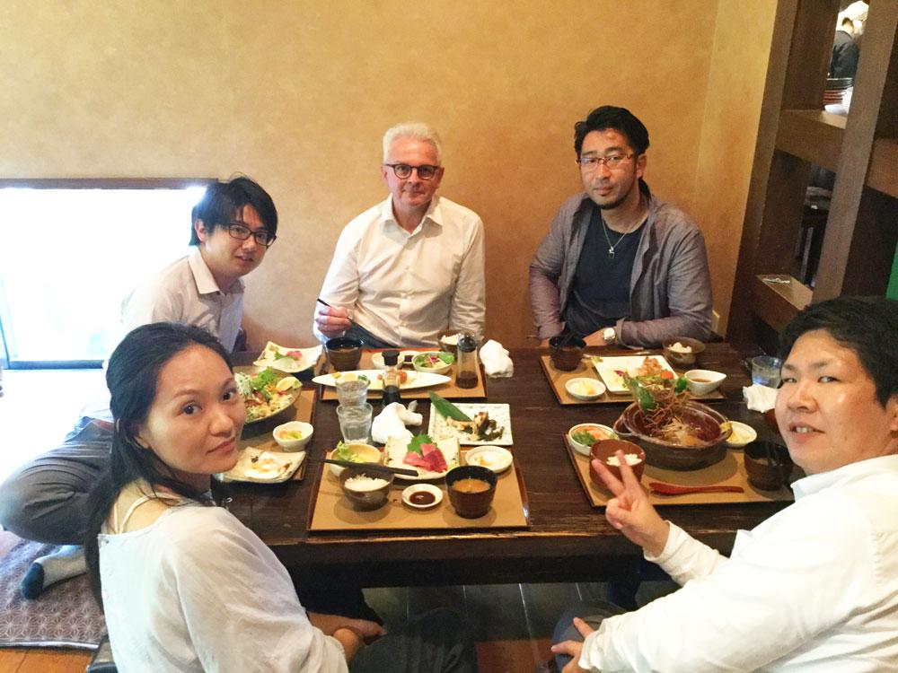 BERA社ロブ社長と昼食