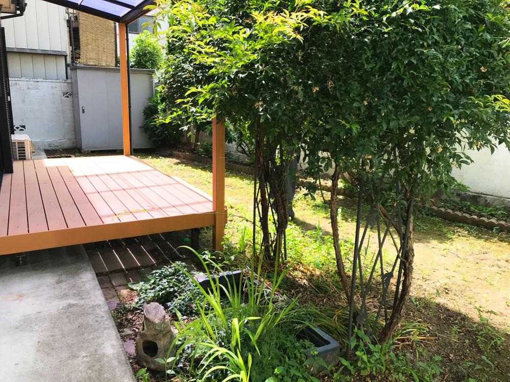 お庭のリフォーム 着工前
