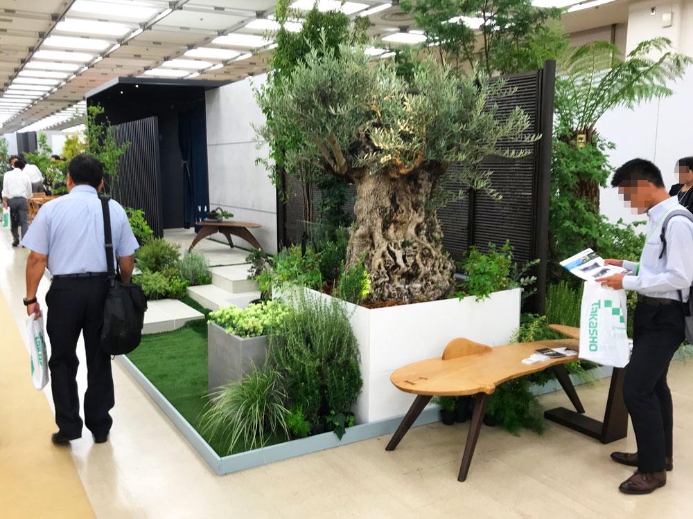 タカショーガーデン&エクステリアフェア2018 植栽提案ブース
