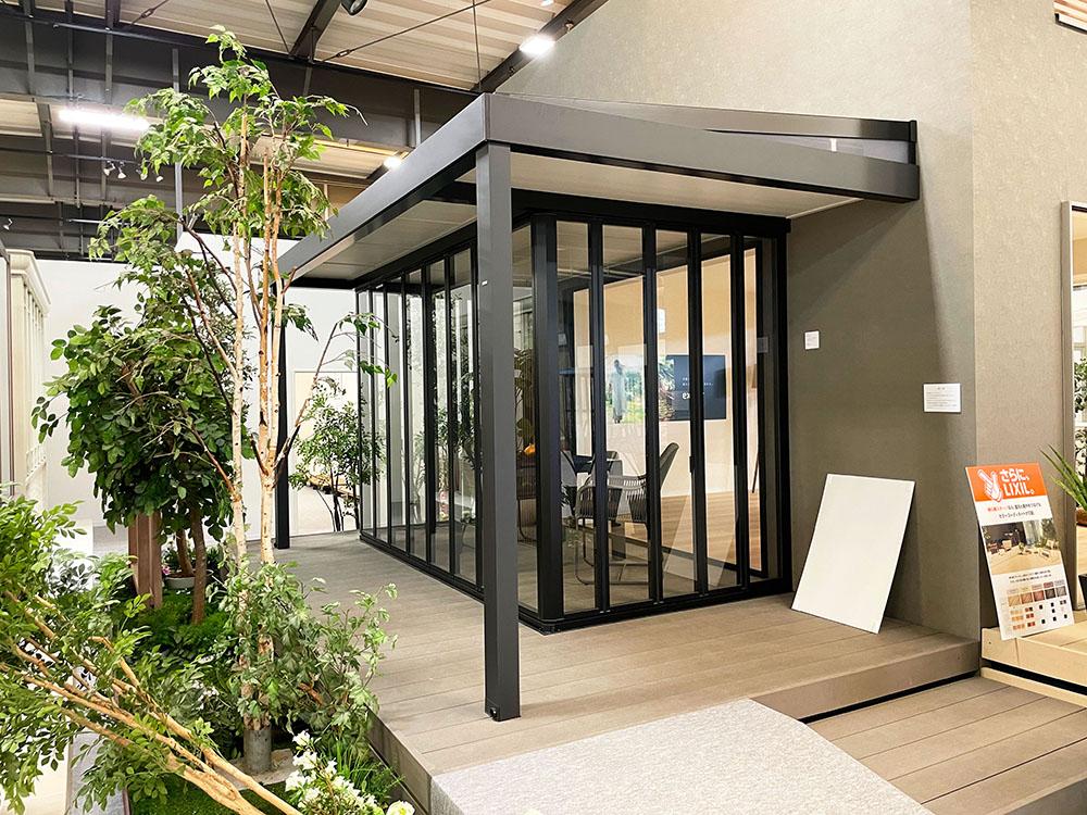 LIXIl ガーデンルーム ジーマ軒プラス 新色 ディープグレー+ブラック